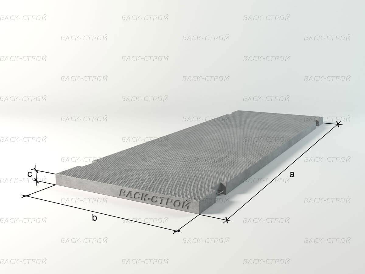 Плита дорожная напряженная ПДН-Ат800