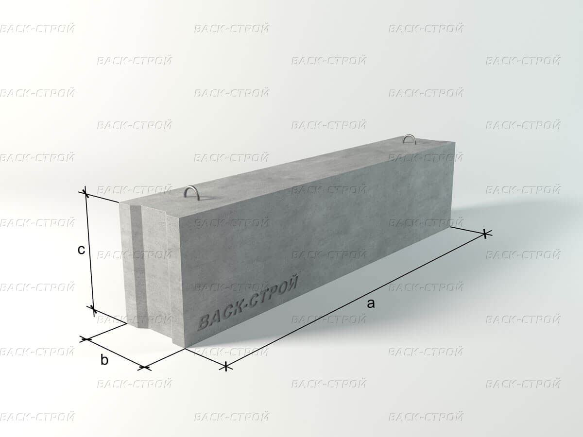 Фундаментный блок ФБС 12.3.3